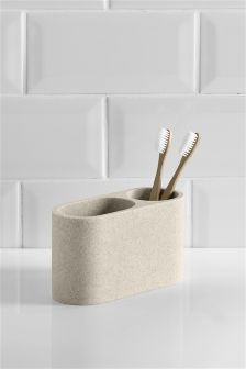 Stone Resin Toothbrush Tidy