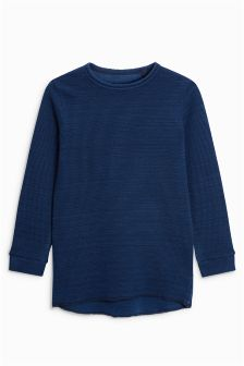 Rib Long Sleeve Top (3-16yrs)