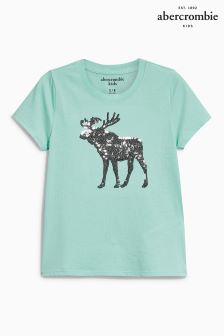 Abercrombie & Fitch Mint Moose Logo Top