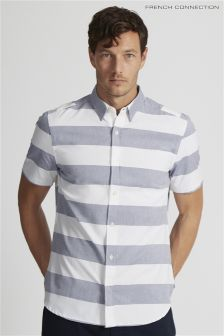 French Connection White Oxford Striped Shirt