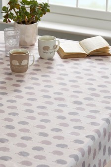 Wipe Clean Hedgehog PVC Tablecloth