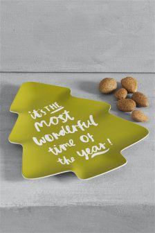Christmas Tree Slogan Plate