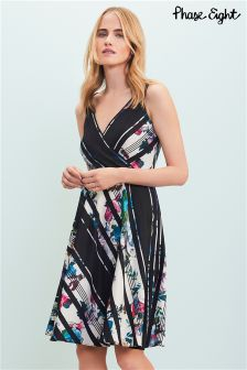 Phase Eight Black Ethelda Printed Dress