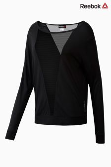 Reebok Black Mesh Long Sleeve Tee