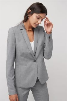 Sharkskin Single Breasted Jacket