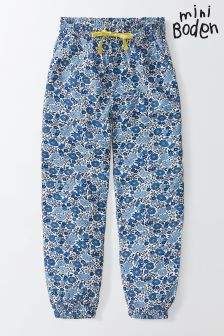 Boden Blue Printed Trousers