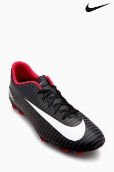 Nike Black Mercurial Firm Ground