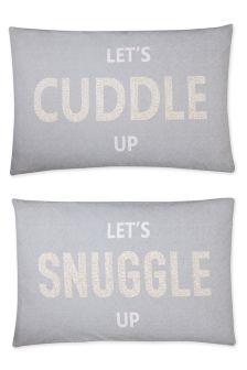 Set Of 2 Snuggle Cuddle Housewife Pillowcases