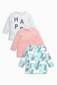 Unicorn T-Shirts Three Pack (0mths-2yrs)