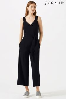 Jigsaw Black Belted Jumpsuit
