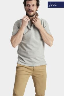 Joules Grey Marl Classic Fit Woody Polo