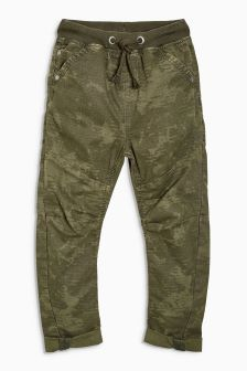 Camo Rib Waist Pull-On Trousers (3-16yrs)