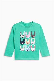 Bunny Long Sleeve Top (3mths-6yrs)