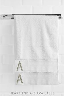 Gold Initial Bath Sheet