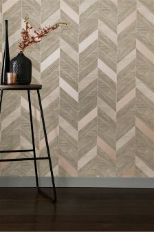 Paste The Wall Parquet Style Wallpaper