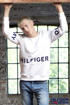 Hilfiger Denim White Basic Sweater