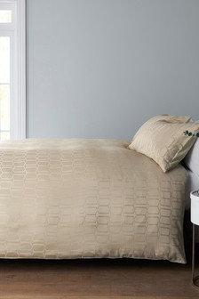 Geometric Jacquard Bed Set