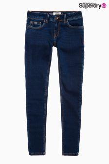 Superdry Dark Wash Mid Rise Skinny Jean