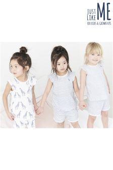 Giraffe Short Pyjamas Three Pack (9mths-8yrs)