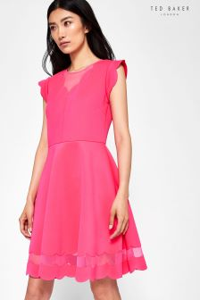 Ted Baker Coral Sharlot Scallop Edge Dress