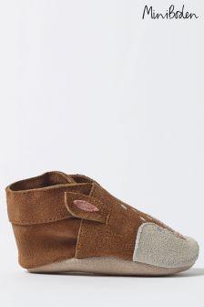 Boden Brown Baby Deer Shoe