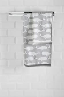 Whale Jacquard Towels