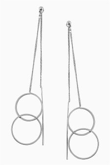 Double Circle Front To Back Earrings