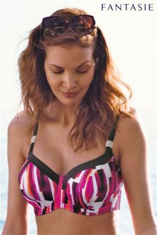 Fantasie Pink Casablanca Underwired Balcony Bikini Top
