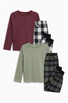 Woven Check Pyjamas Two Pack (3-16yrs)