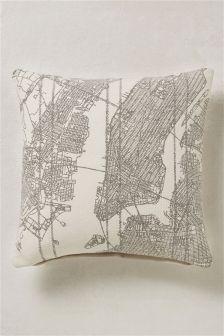 Printed Map Cushion