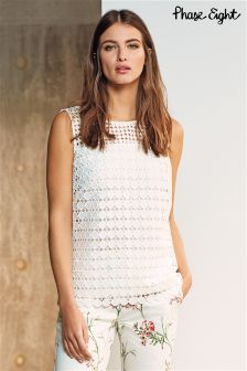Phase Eight Ivory Alba Lace Top