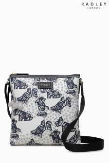 Radley Ivory Folk Dog Across Body Bag