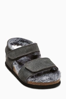 Furry Sandals (Younger Boys)