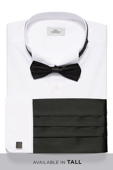 Slim Fit Shirt With Bow Tie, Cummerbund And Cufflinks