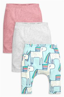 Unicorn Leggings Three Pack (0mths-2yrs)