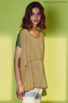 French Connection Green Lightweight Crepé Top