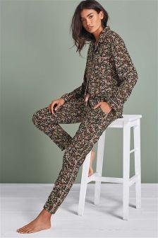 Floral Button Through Pyjamas