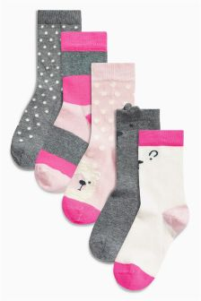 Character Socks Five Pack (Younger Girls)