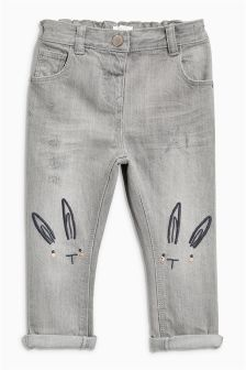 Bunny Embellished Jeans (3mths-6yrs)