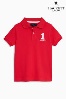 Hackett Red New Classic Poloshirt