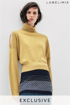 Mix/Teatum Jones Cutout Roll Neck Jumper
