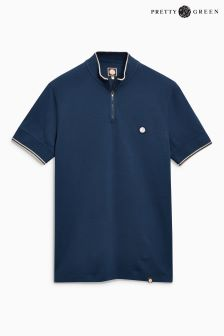 Pretty Green Langshaw Zip Neck T-Shirt
