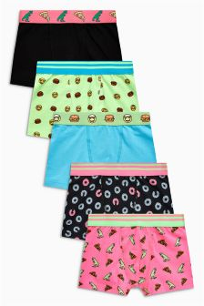 Fun Printed Trunks Five Pack (2-16yrs)