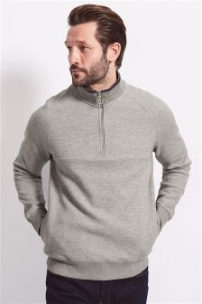 Half Zip Funnel Neck