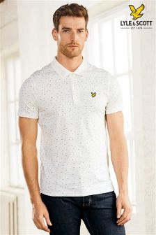 Lyle & Scott White Printed Poloshirt