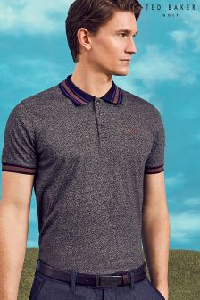 Ted Baker Charcoal Mouline Polo