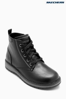 Skechers® Black Lace Up High Top Boot