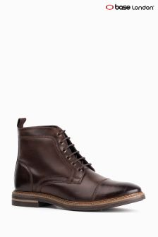 Base London Brown Hockney Toe Cap Boot