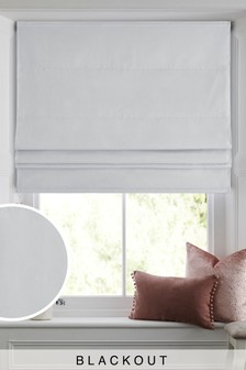 Cotton Blackout Roman Blind Studio Collection By Next