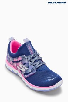 Skechers® Girls Navy/Pink Stretch Ez Sockfit Lace Up Sneaker